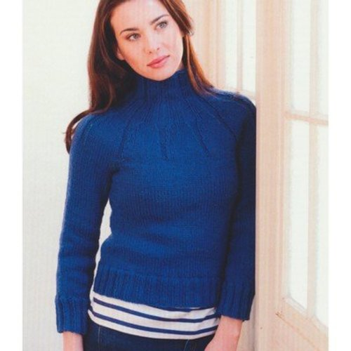 Plymouth Yarn 2768 Woman's Ribbed Yoke Pullover -  ()