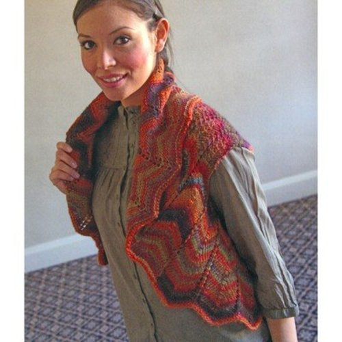 Plymouth Yarn 2875 Chevron Vest -  ()