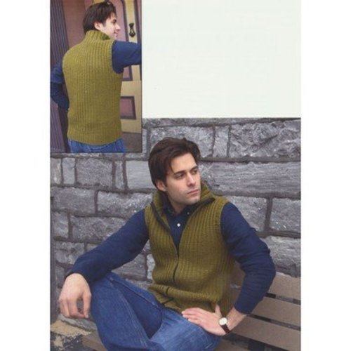 Plymouth Yarn 2877 Men's Vest -  ()