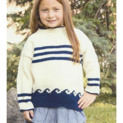 Plymouth Yarn 2911 Kid's Nautical Pullover -  ()
