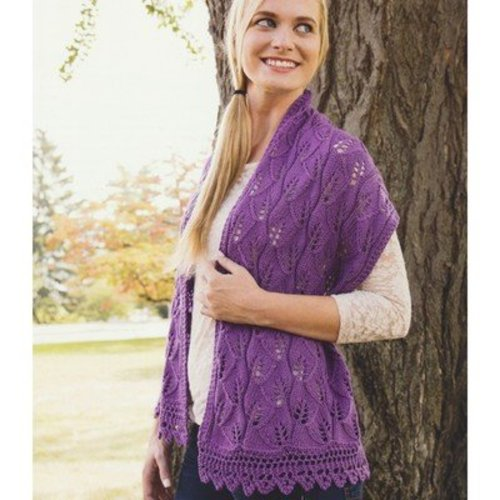 Plymouth Yarn 2919 Leaves and Lace Stole -  ()