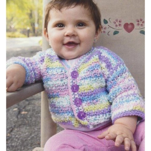 Plymouth Yarn 2934 Checkered Teeth Crochet Kid's Jacket -  ()