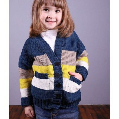 Plymouth Yarn 2989 Kid's Garter Stitch Cardigan -  ()