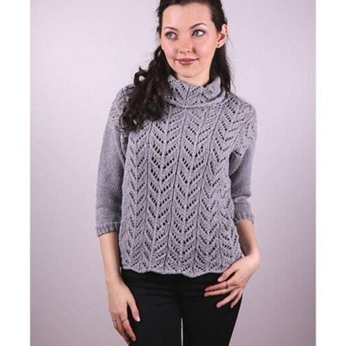 Plymouth Yarn 3009 Women's Lace Pullover -  ()