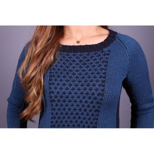 Plymouth Yarn 3012 Women's Two Tone Pullover -  ()
