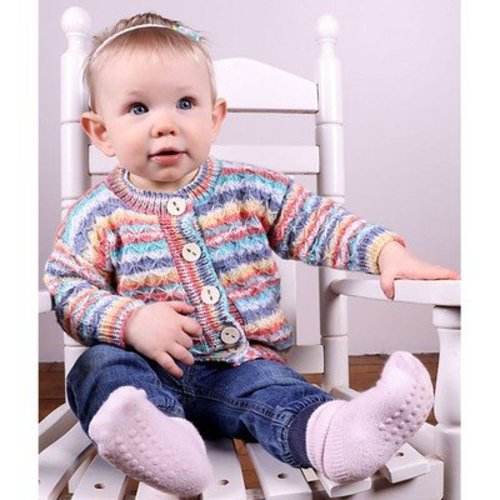 Plymouth Yarn 3014 Baby's Quilted Lattice Cardigan -  ()