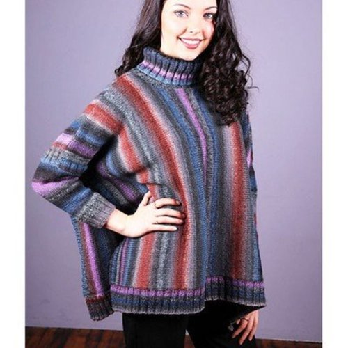 Plymouth Yarn 3024 Women's Poncho With Sleeves -  ()