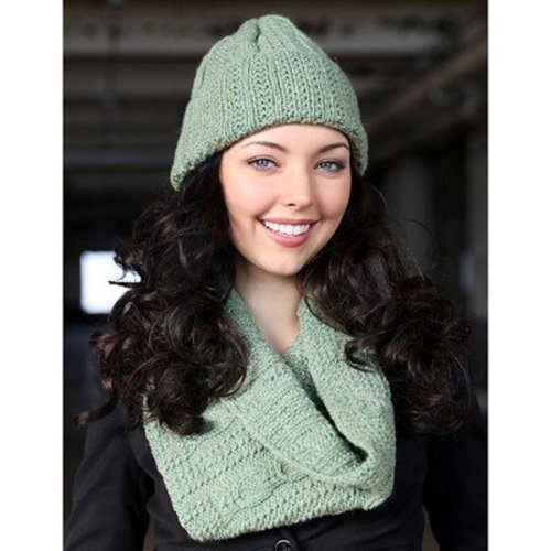 Plymouth Yarn 3034 Hat & Cowl Set -  ()
