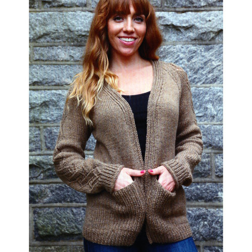 Plymouth Yarn 3054 Women's Cable and Lace Cardigan -  ()