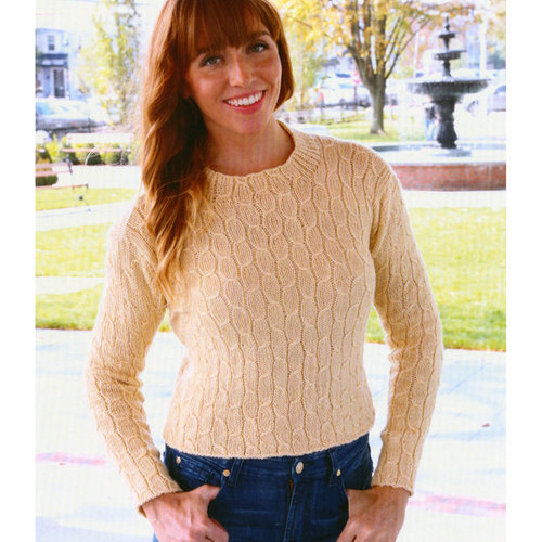 Plymouth Yarn 3063 Women's Cabled Pullover -  ()