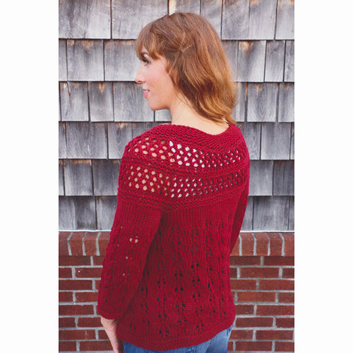 Plymouth Yarn 3079 Women's Lace Yoke Cardigan -  ()
