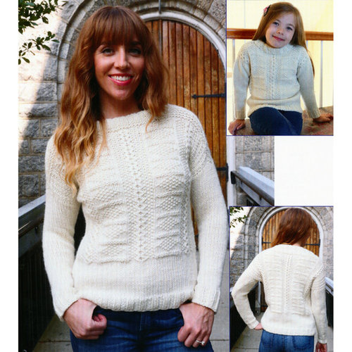 Plymouth Yarn 3081 Guernsey Pullover -  ()