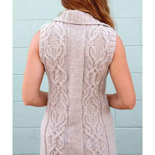 Plymouth Yarn 3102 Women's Long Cabled Vest PDF -  ()