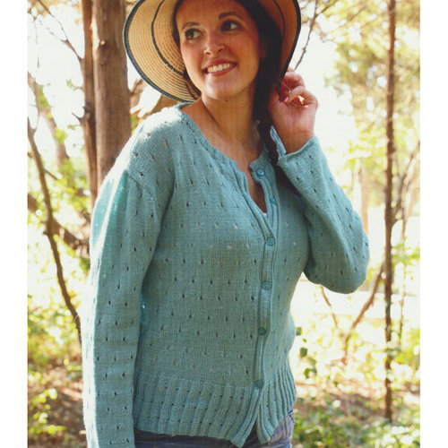 Plymouth Yarn 3114 Women's Eyelet Cardigan -  ()