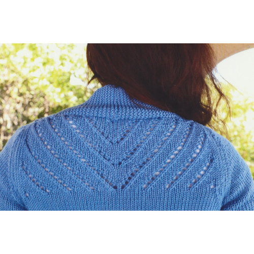Plymouth Yarn 3123 Women's Lace Back Cardigan -  ()