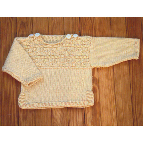 Plymouth Yarn 3125 Baby Guernsey Pullover -  ()