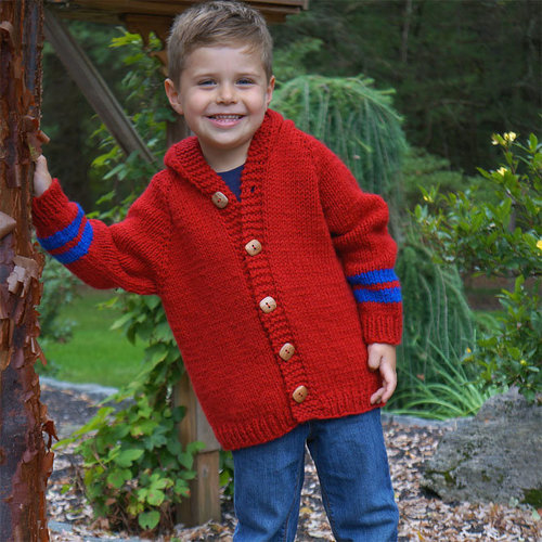 Plymouth Yarn 3224 Top Down Child's Sweater PDF - Printed (3224P)