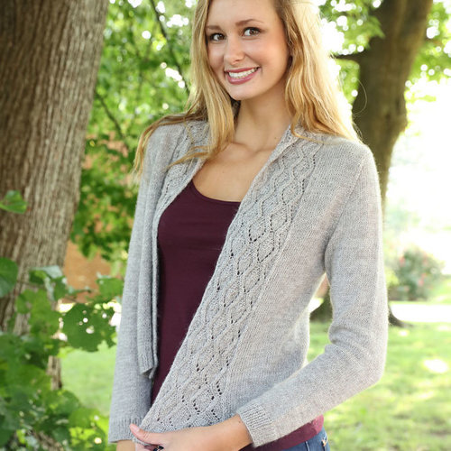 Plymouth Yarn 3228 Open Front Lace Cardigan -  ()