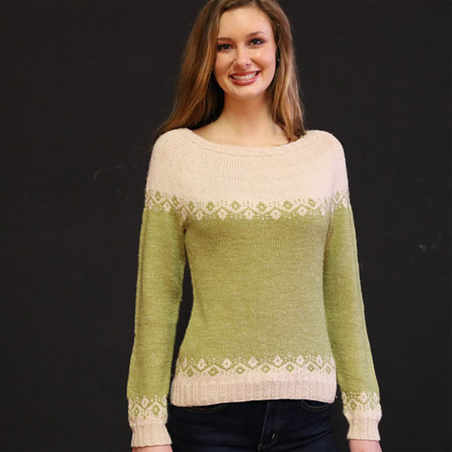 Plymouth Yarn 3271 Equinox Fair Isle Pullover -  ()