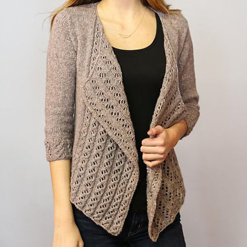 Plymouth Yarn 3272 Solstice Woman's Drape Front Cardigan -  ()