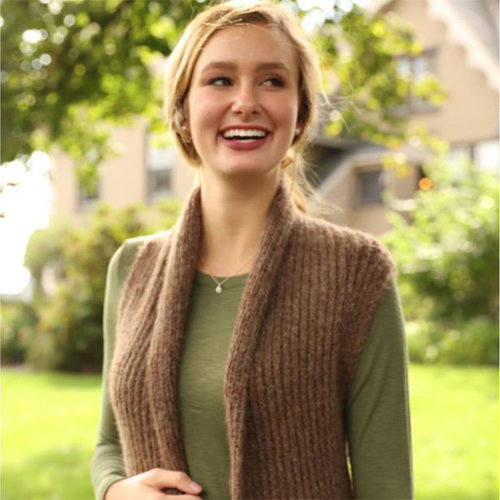 Plymouth Yarn 3285 Aireado Vest PDF - Printed (3285P)