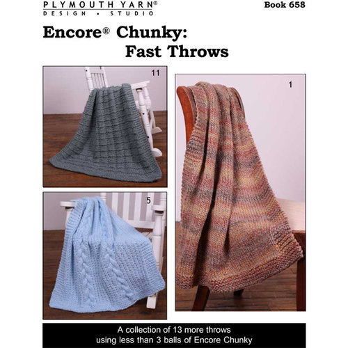 Plymouth Yarn 658 Encore Chunky: Fast Throws PDF - Download (658)