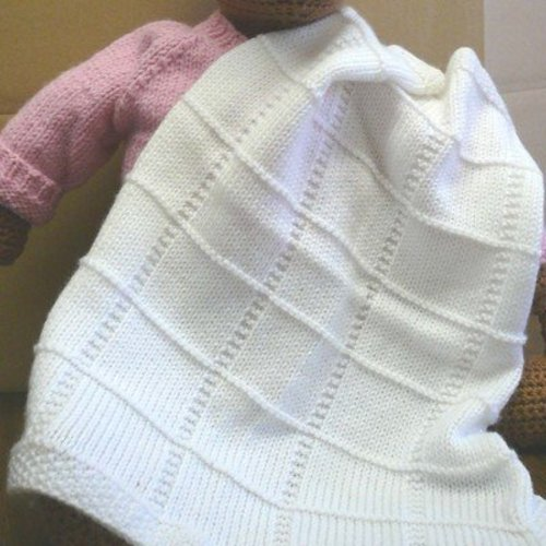 Baby Afghan Knitting Patterns : Plymouth Yarn F013 Dreambaby DK Baby Squares Afghan (Free ...