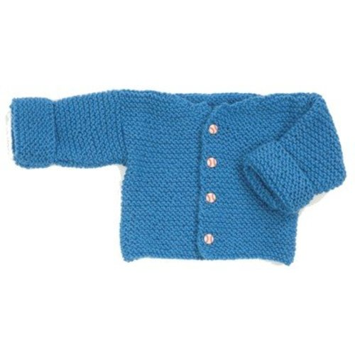 Plymouth Yarn F165 Encore Easy Garter Stitch Baby Sweater (Free) -  ()