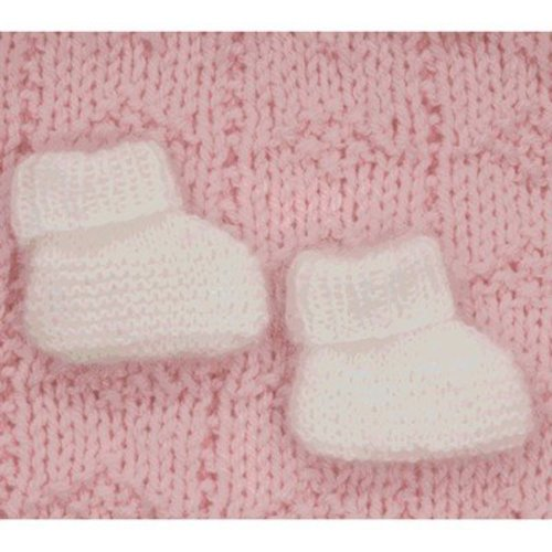 Plymouth Yarn F310 Angora Baby Booties (Free) -  ()