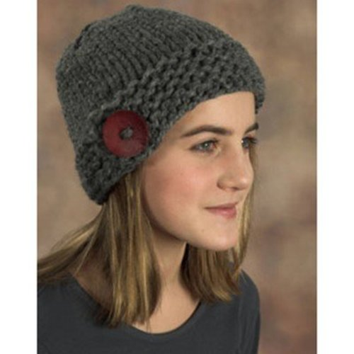 Plymouth Yarn F379 Button Hat (Free) -  ()