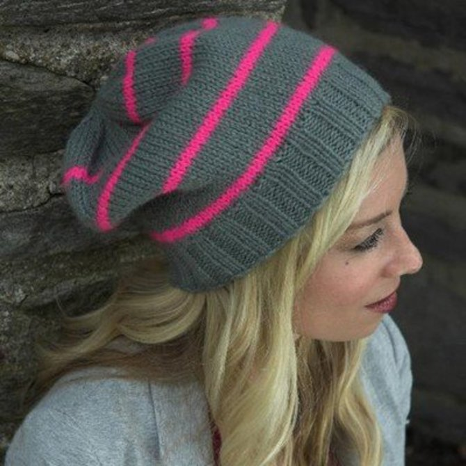 Plymouth Yarn F522 Encore Worsted Neon Striped Hat Free At Webs