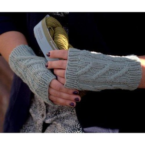 Plymouth Yarn F532 DK Merino Superwash Fingerless Mitts (Free) -  ()
