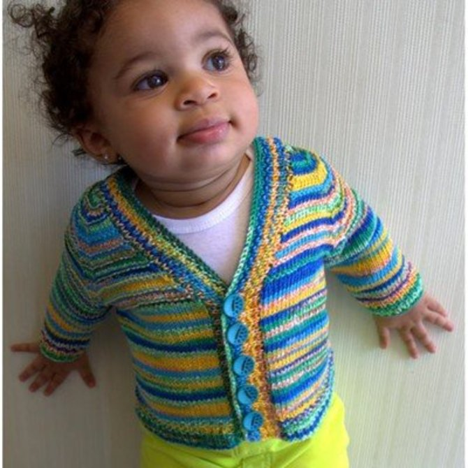 Plymouth Yarn F595 Kimera Seamless Baby Cardigan Free At Webs