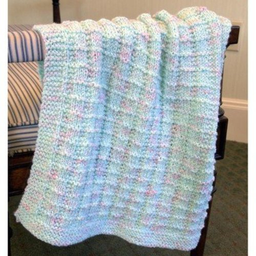 Plymouth Yarn F608 Baby Beenz Textured Blankie (Free) -  ()