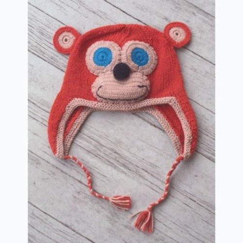 Plymouth Yarn F655 Knit Monkey Hat (Free) -  ()