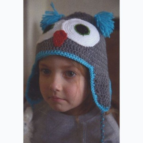 Plymouth Yarn F656 Crochet Owl Hat (Free) -  ()