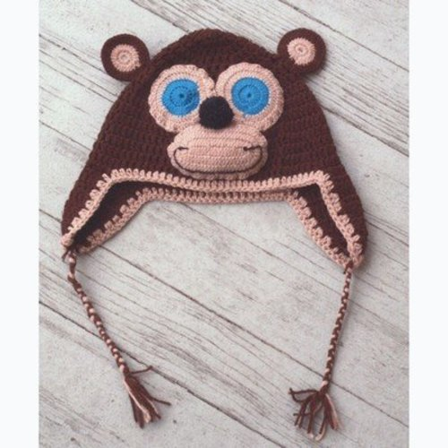 Plymouth Yarn F657 Crochet Monkey Hat (Free) -  ()