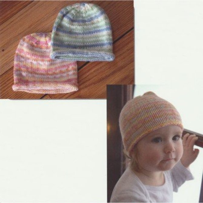 214c2ea1d6d Plymouth Yarn F660 Striped Baby Hat (Free) - (). Download Pattern Now