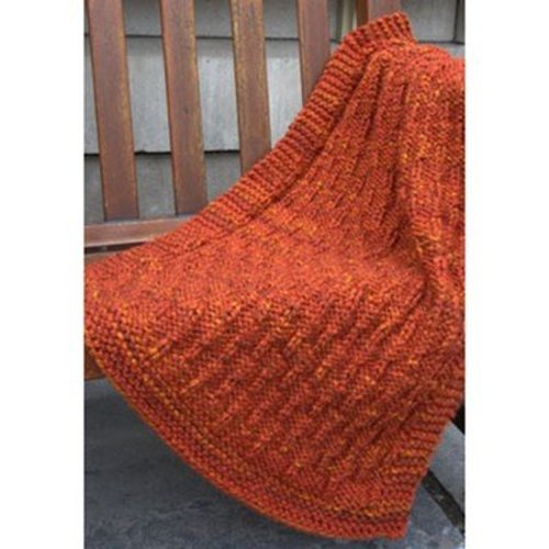 Plymouth Yarn F663 Vertical Lines Throw (Free) -  ()