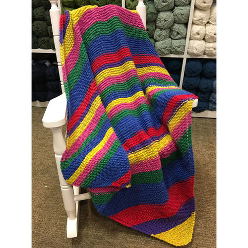 Plymouth Yarn F827 Diagonal Baby Blanket (Free) -  ()