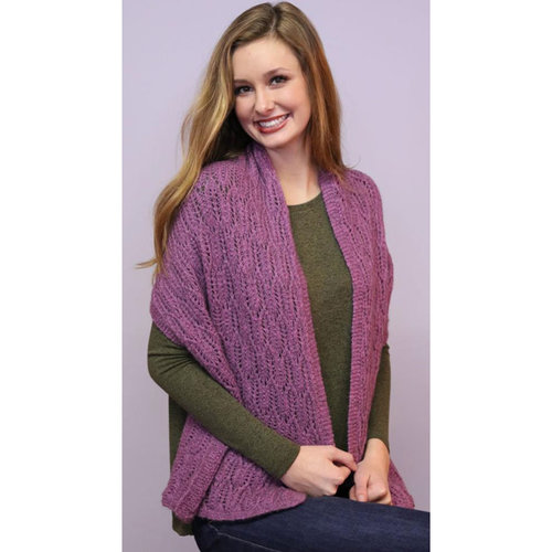 Plymouth Yarn F855 Solstice Cathedral Windows Shawl (Free) -  ()