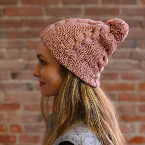 Plymouth Yarn F906 Moon Shadow Cable and Seed Stitch Hat (Free) -  ()