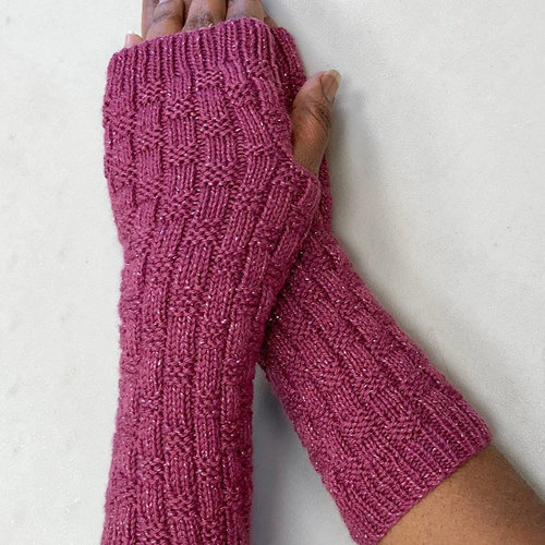 Plymouth Yarn F927 Electra Lite Textured Fingerless Gloves (Free) -  ()
