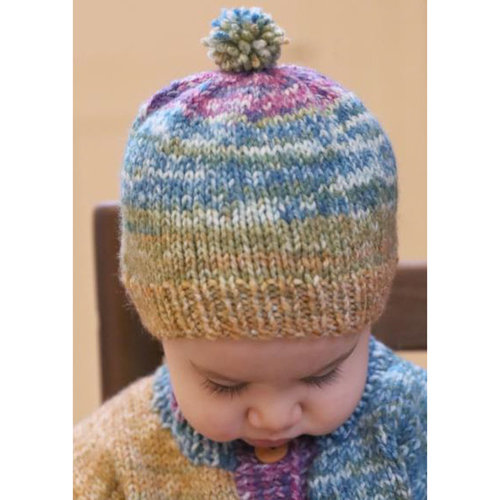 Plymouth Yarn F963 Encore Worsted Colorspun Baby Cardigan & Hat (Free) -  ()