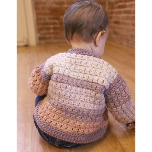 Plymouth Yarn F968 Hot Cakes with Encore Worsted Crochet Bomber and Hat (Free) -  ()