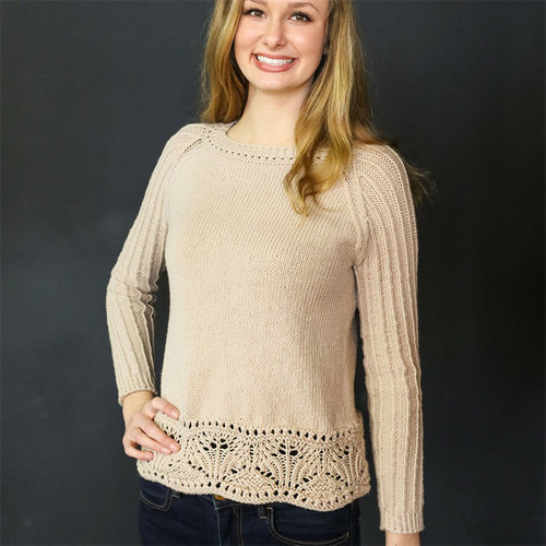 Plymouth Yarn M107 Worsted Merino Superwash Pearl Morning Pullover -  ()