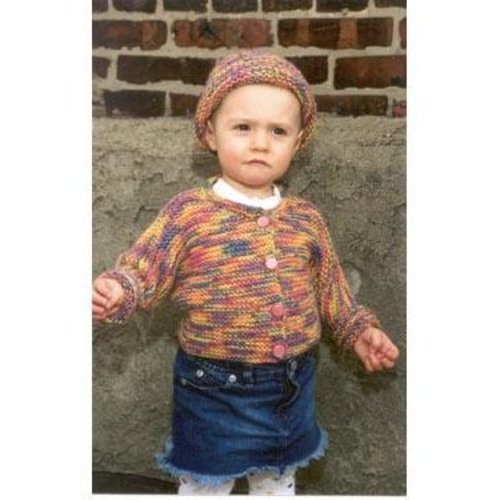 Plymouth Yarn P283 One-Piece Baby Sweater with Matching Hat -  ()