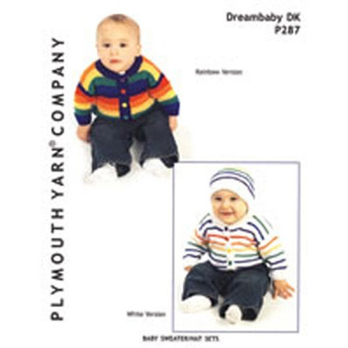 Plymouth Yarn P287 Baby Sweater/Hat Sets -  ()