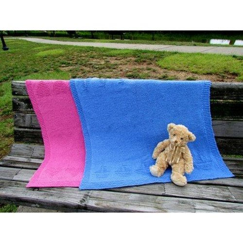 Plymouth Yarn Sailboats and Hearts Baby Throws -  ()