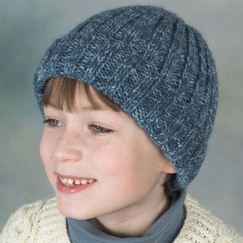 Plymouth Yarn SFA-01 Encore Worsted Ribbed Hat (Free) -  ()